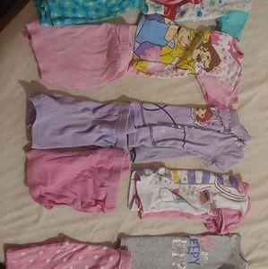 3t girls pajama short bundle